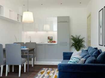 Меблировка комнаты в скандинавском стиле